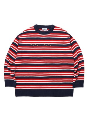DV LOGO STRIPE KNIT(NAVY)