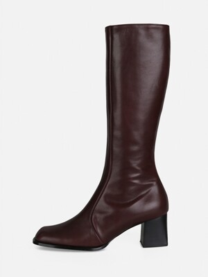 OBLIQUE LONG BOOTS - WINE
