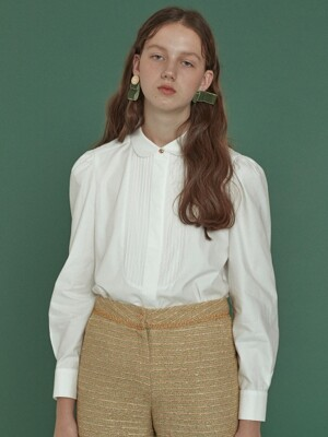 pintuck shirts blouse_white