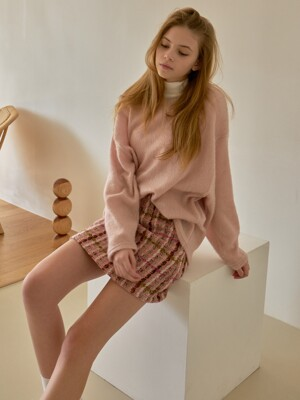 MTOF3 OVERSIZED KNIT TOP(PINK)