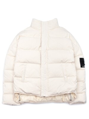 BBD Patch Duck Down Short Padding Jacket (Ivory)