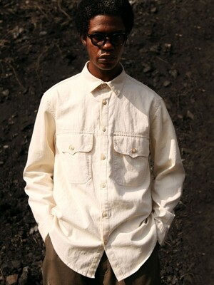 PK HALF 2POCKET SHIRTS [Ivory]