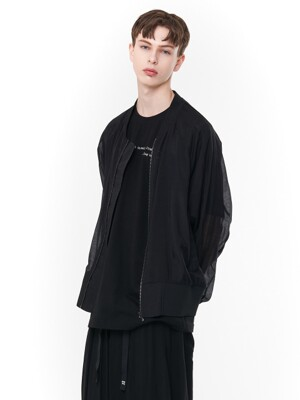 See-through Oversize MA-1 (BK)_ PA1JP0303
