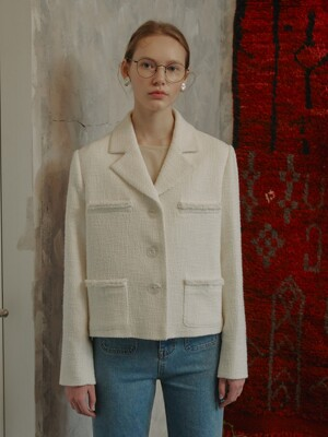 Grace Tweed Jacket_White