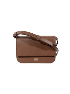 MFG LEATHER SHOULDER BAG tan