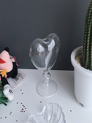 Clear Heart Vase 투명하트꽃병