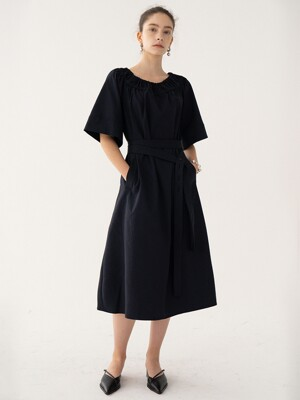 SS21 Caftan Dress Dark-navy