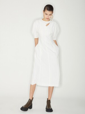 BALLOON DRESS_WHITE