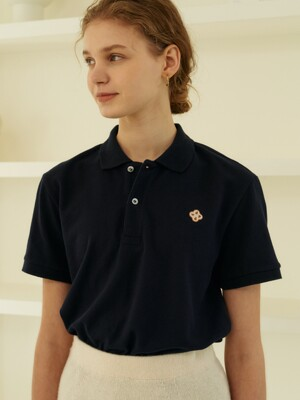clover polo shirts (navy)