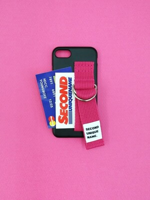 SUN CASE BLACK DEEP PINK (CARD)