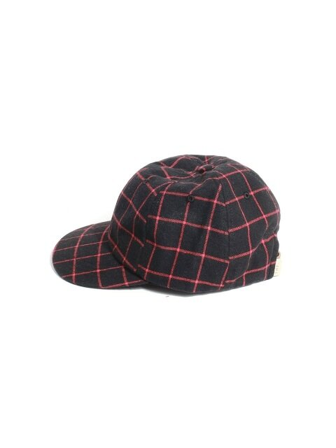 MODERN CHECK BALL CAP - BLACK