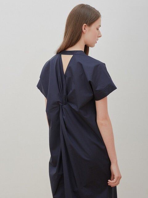 Back-twist dress-navy