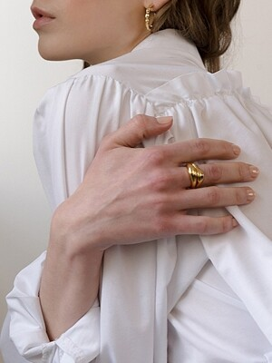 BOLD FLOW RING GOLD