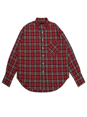 UNISEX FLANNEL CHECK SHIRTS RED