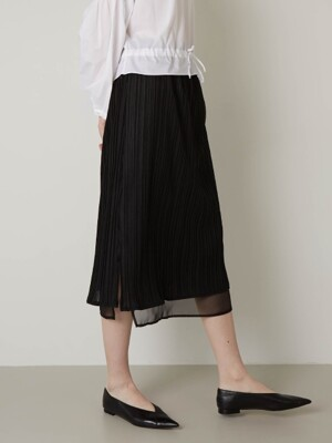 PLISSE PLEATS SKIRTS (BLACK)