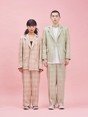 19SP Check Pants PINK