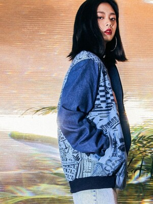 UTO-SS14 signature denim blouson[blue(UNISEX)]