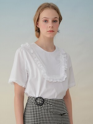 monts934 lace tassel blouse (white)