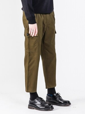 19FW TAPERED FIT CARGO PANTS OLIVE