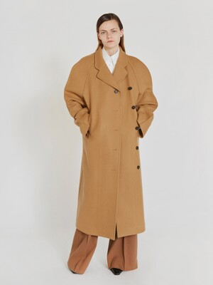 RAGLAN WOOL COAT (CAMEL)