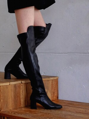 Span knee high boots_19bk