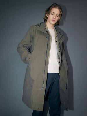 Oversized Italian Fabric Hooded Parka