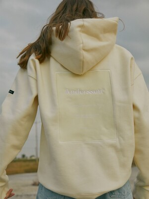 UNISEX ANDERSSON SIGNATURE PATCH HOODIE atb230u(IVORY)