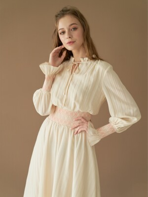MELISSA SMOCKING DRESS IN CREAM