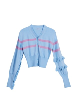 Signature frill cardigan - Blue