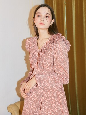 Ruffle Point Mini Dress_ Pink