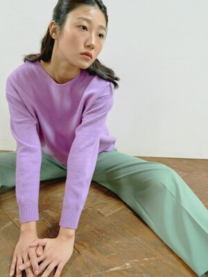 VIOLET RECYCLED CASHMERE KNIT TOP