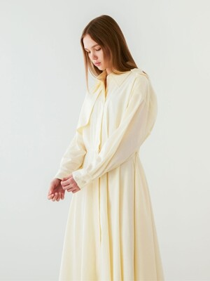 Trench Maxi dress_Light Yellow