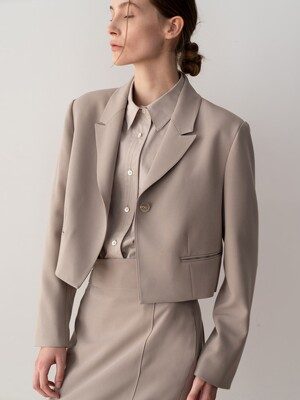 20SP CROPPED JACKET (TAUPE)