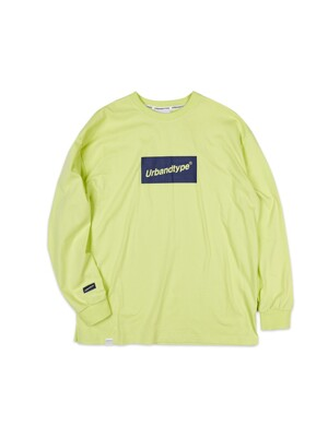 LT334_Box logo long sleeve_Lime