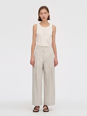 RELAXED PAPERBACK PANTS WOMEN [CREAM]
