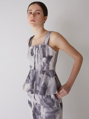flared sleeveless top_pattern