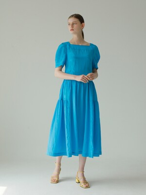 Puff Sleeve Dress_Blue