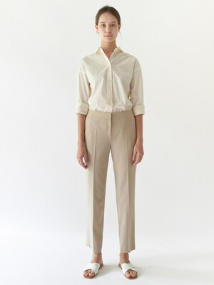 Pencil straight trousers - Beige