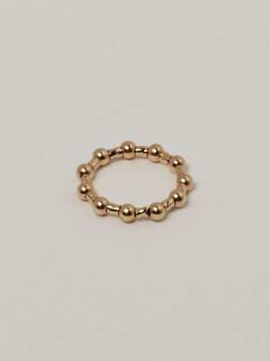 14K GOLDFILLED BEADS RING