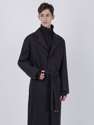 RUSTLE 3BUTTON BELT COAT_BLACK