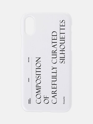 GOUACHE PHONE CASE (WHITE)