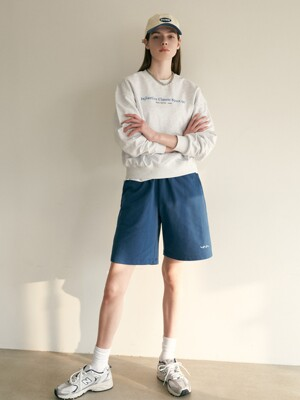 BOYFREIND SWEAT SHORT 블루