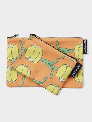 Tulip orange pouch