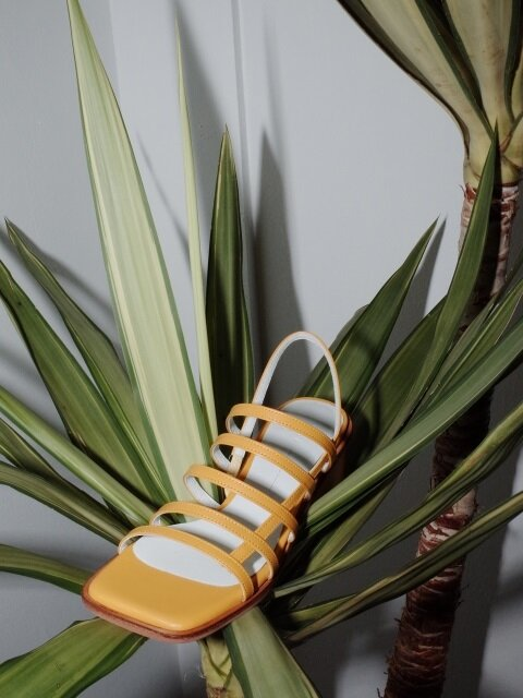 Square mama sandals Yellow