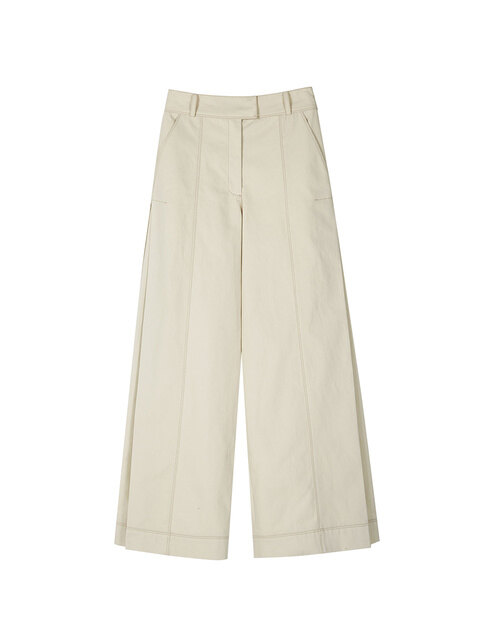 KASIA SIDE PLEAT PANTS apa251w(Ivory)