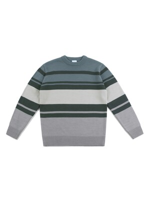 MULTI STRIPE KNIT (GRAY)