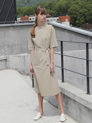Linen tidy belt One-piece_Beige
