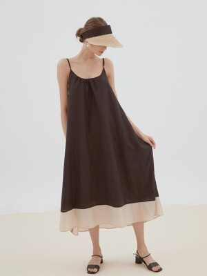 blossom sleeveless dress[black]