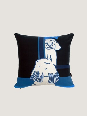 Doggie in the mirror cushion covers- black