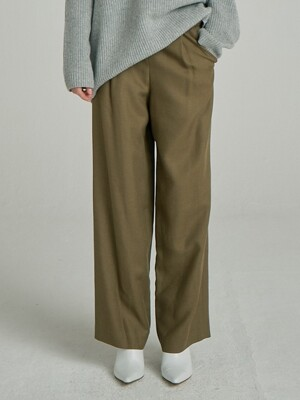 One Sidetuck Trousers_Khaki